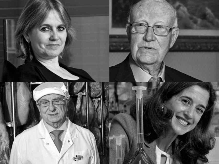 Rosa Tous, Gabriel Barceló, Tomás Fuertes e Inés Juste.