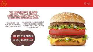 Todo sobre el Big Mac y su rebanada de pan en el centro.