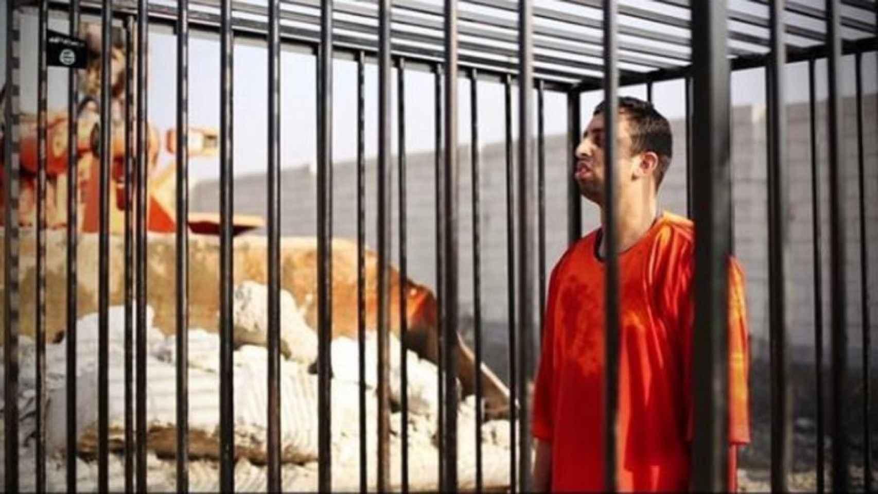 Imagen del piloto jordano el día de su ejecución.