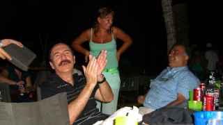 Carlos Llorca, durante una de sus fiestas en su casa de Isla Margarita.