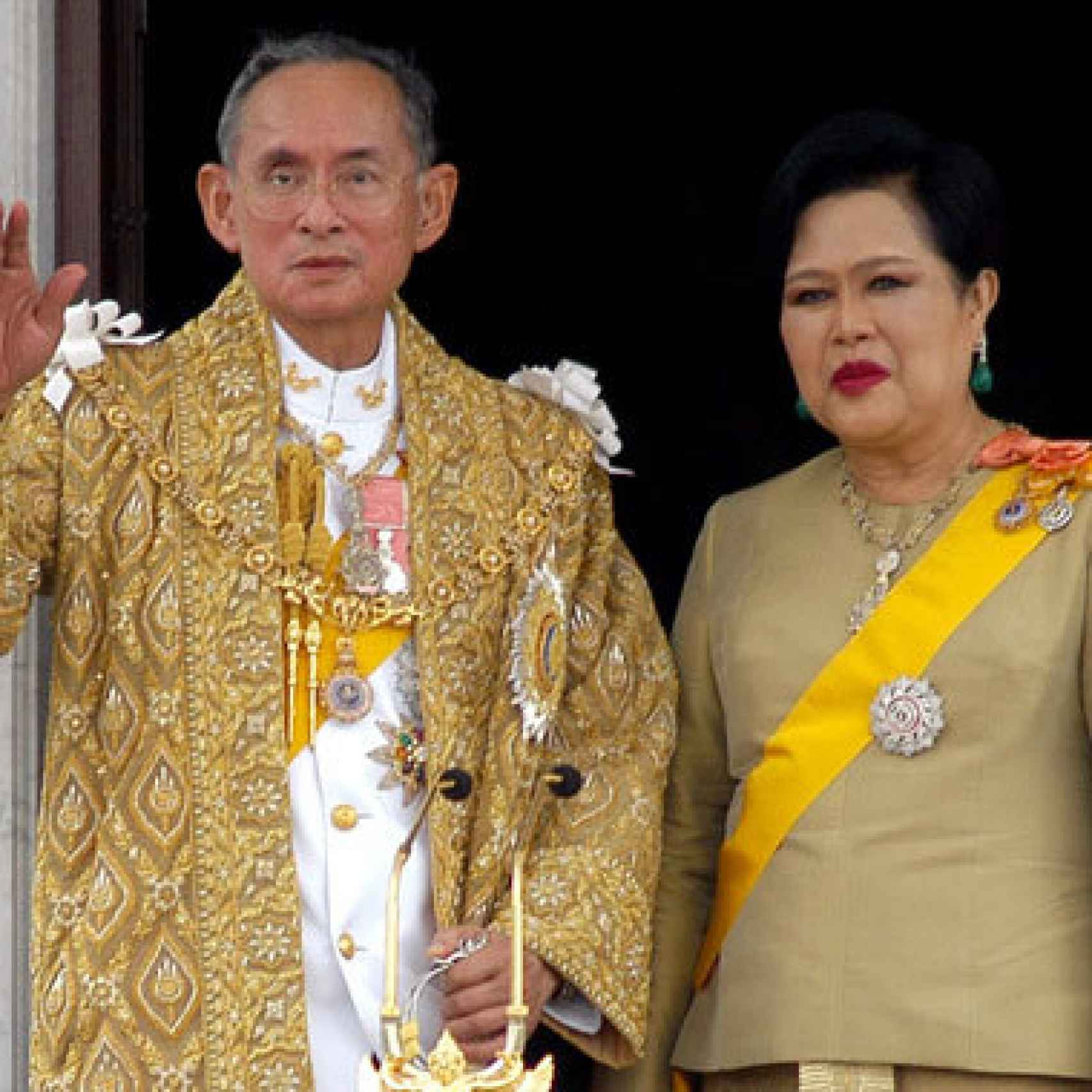 Los actuales reyes de Tailandia, Bhumibol Adulyadej y Sirikit.