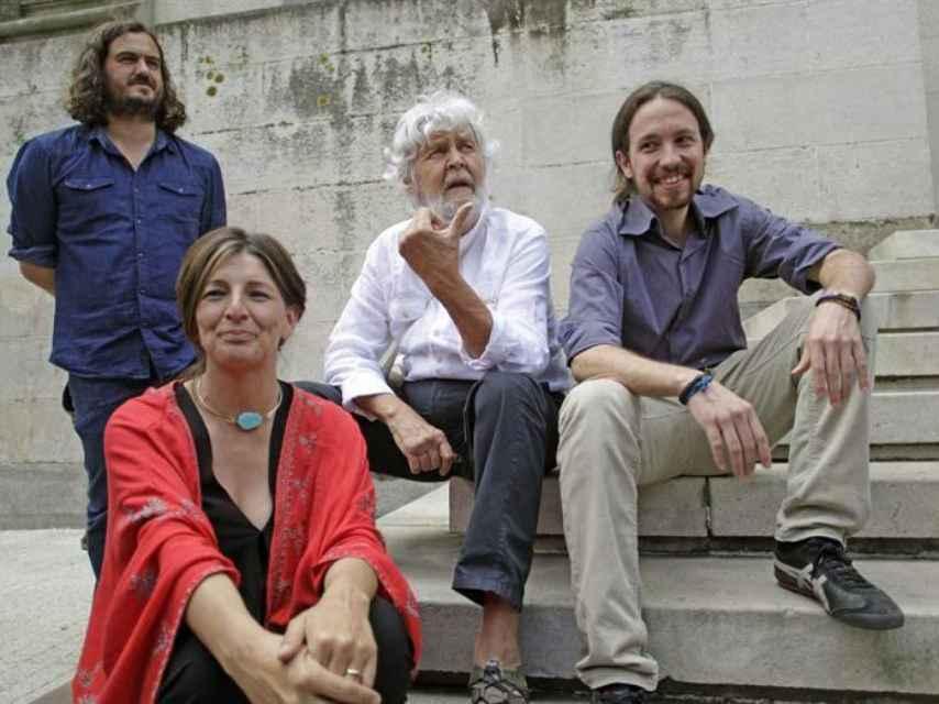 Pablo Iglesias junto a algunos líderes de la confluencia  En Marea