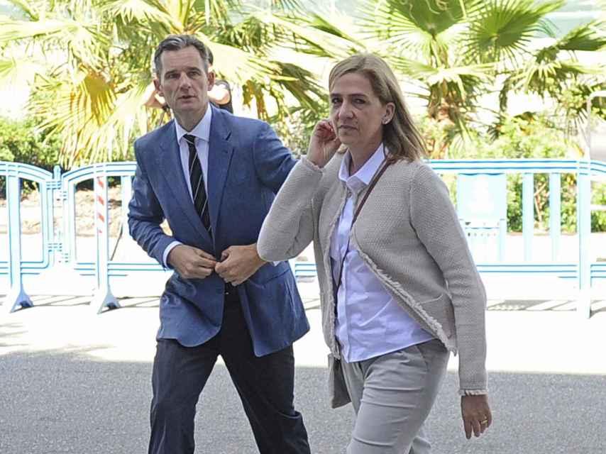 La hija menor de don Juan Carlos junto a su marido.
