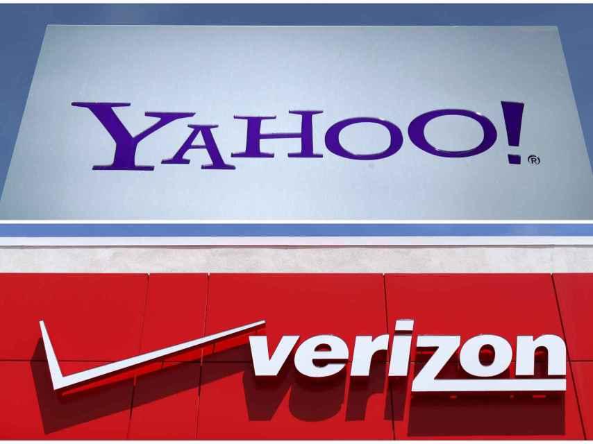 Logos de Verizon y Yahoo