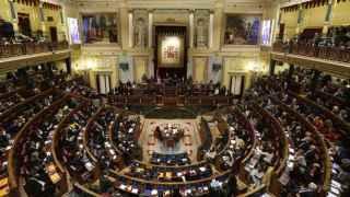 Vista general del hemiciclo del Congreso, en el pleno de constitución de la XI Legislatura.