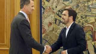 El rey Felipe recibe a Alberto Garzón.
