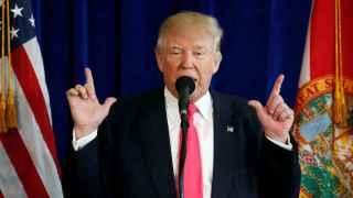 Trump, durante su intervención.