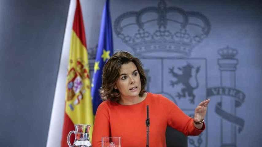 La vicepresidenta en funciones, Soraya Saéz de Santamaría