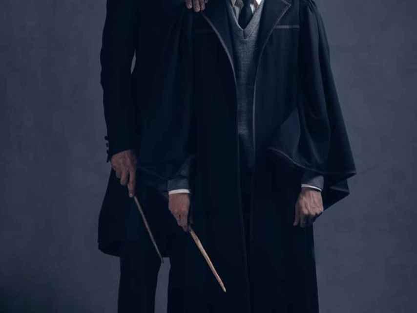Scorpius Malfoy con su padre Draco.
