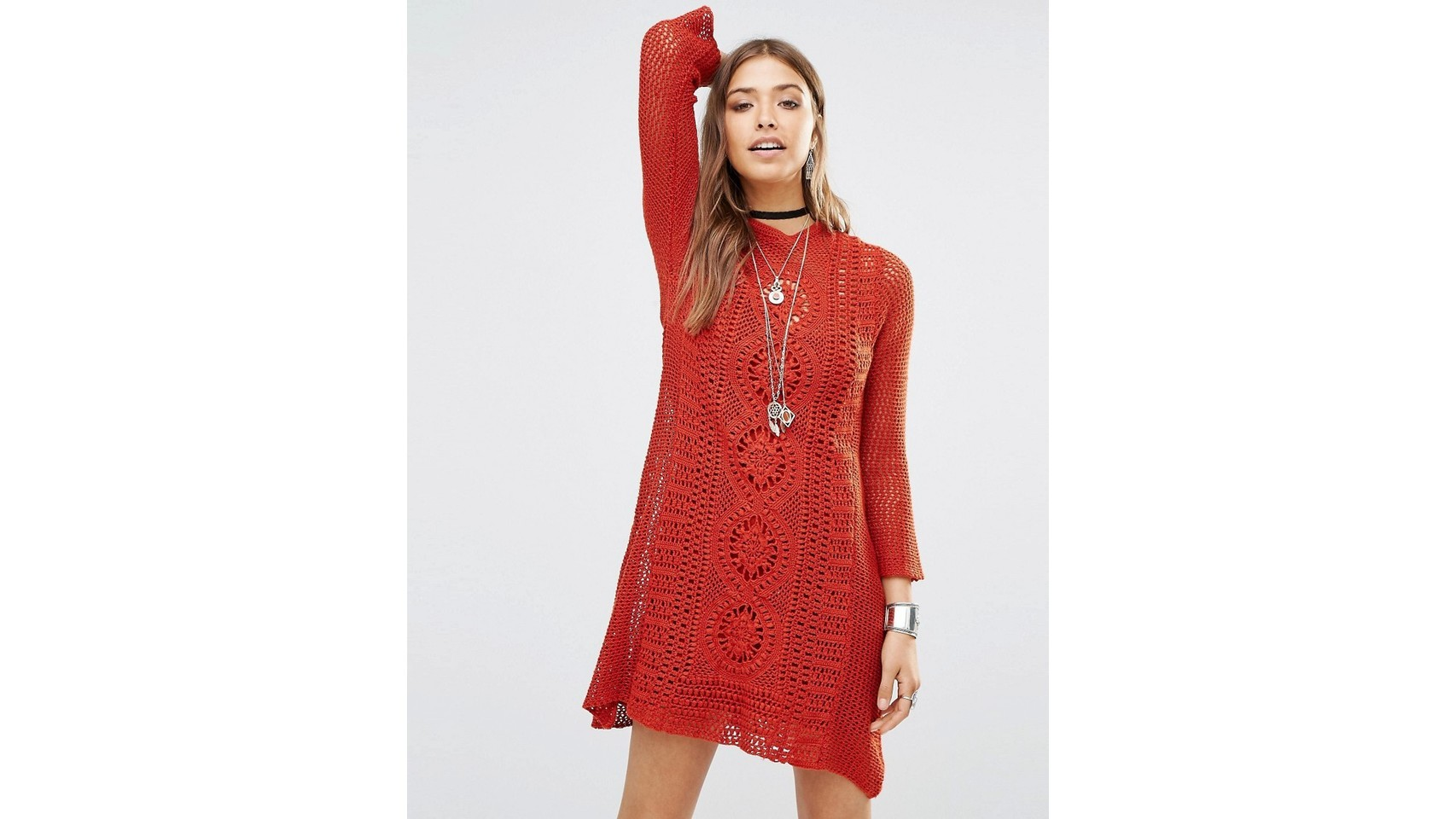 Vestido rojo de Free People en Asos (112,99 euros).