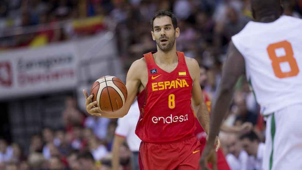 José Manuel Calderón con España.