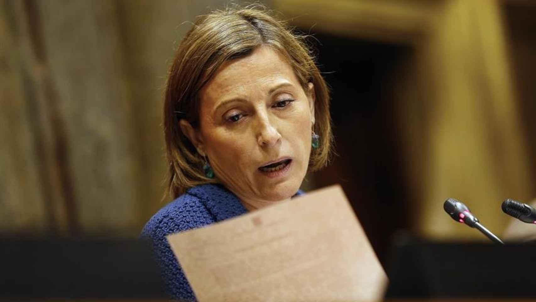 Carme Forcadell, presidenta del Parlament de Cataluña.