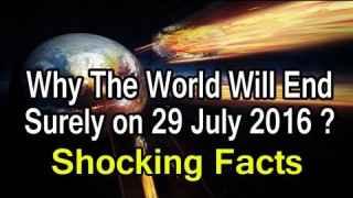 El vídeo que promete pruebas sobre el fin del mundo el 29 de julio de 2016.