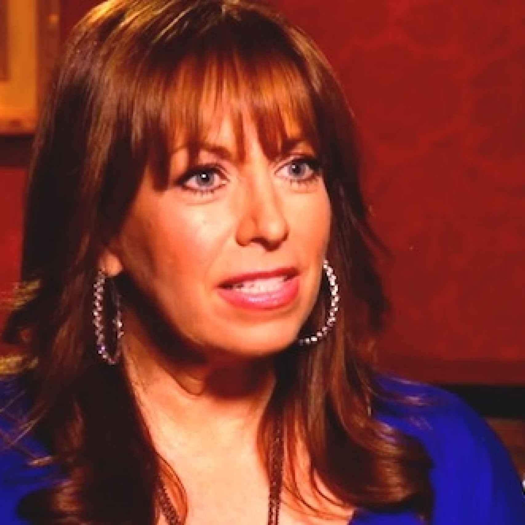 Paula Jones en una aparición televisiva.