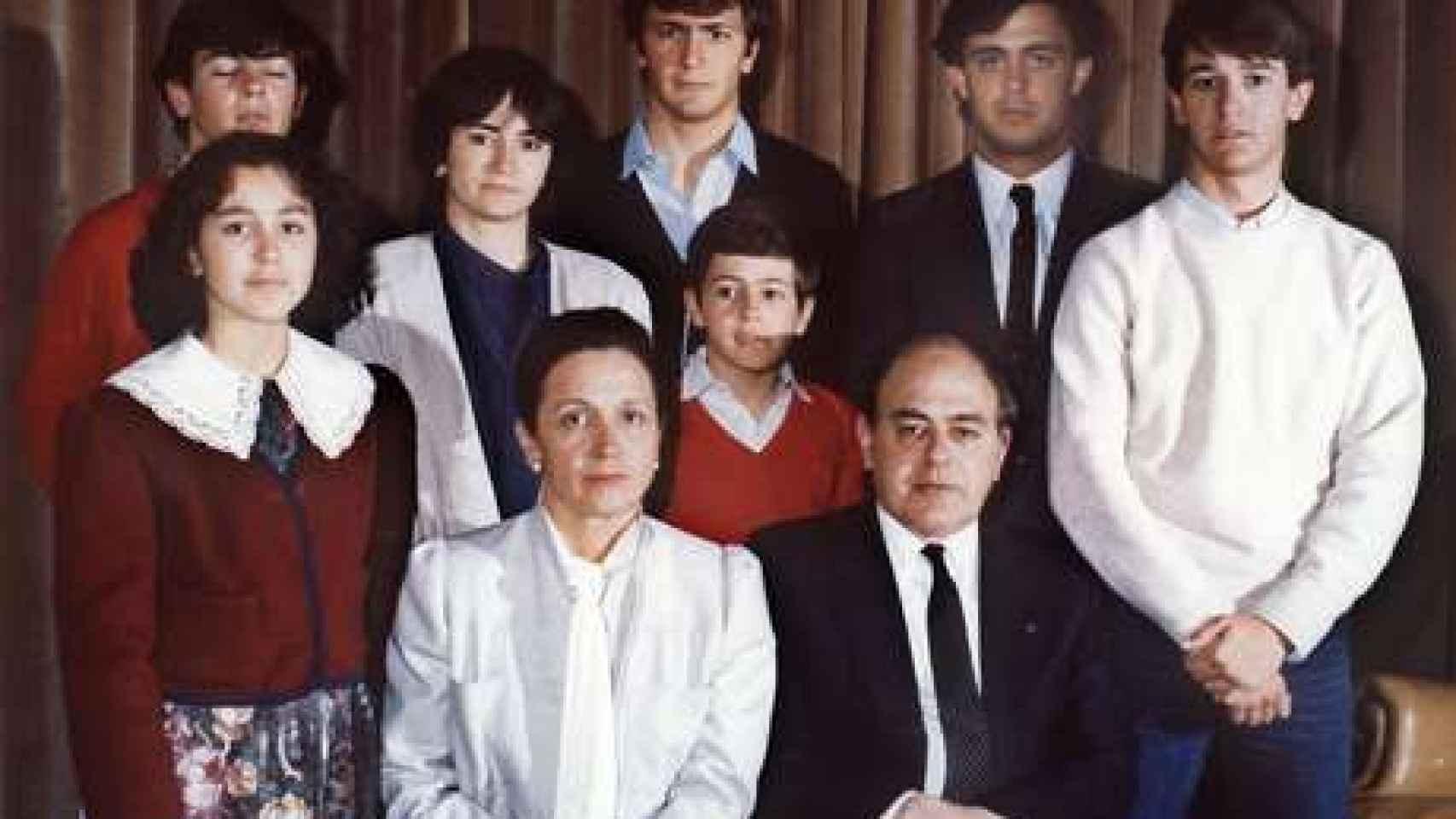 La familia Pujol, en una imagen de archivo