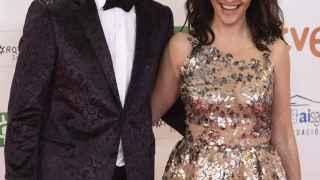 Melani Olivares y Gorka González felices ante su boda este fin de semana.