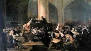 Auto de fe de la Inquisición, Francisco de Goya (1812-1819).