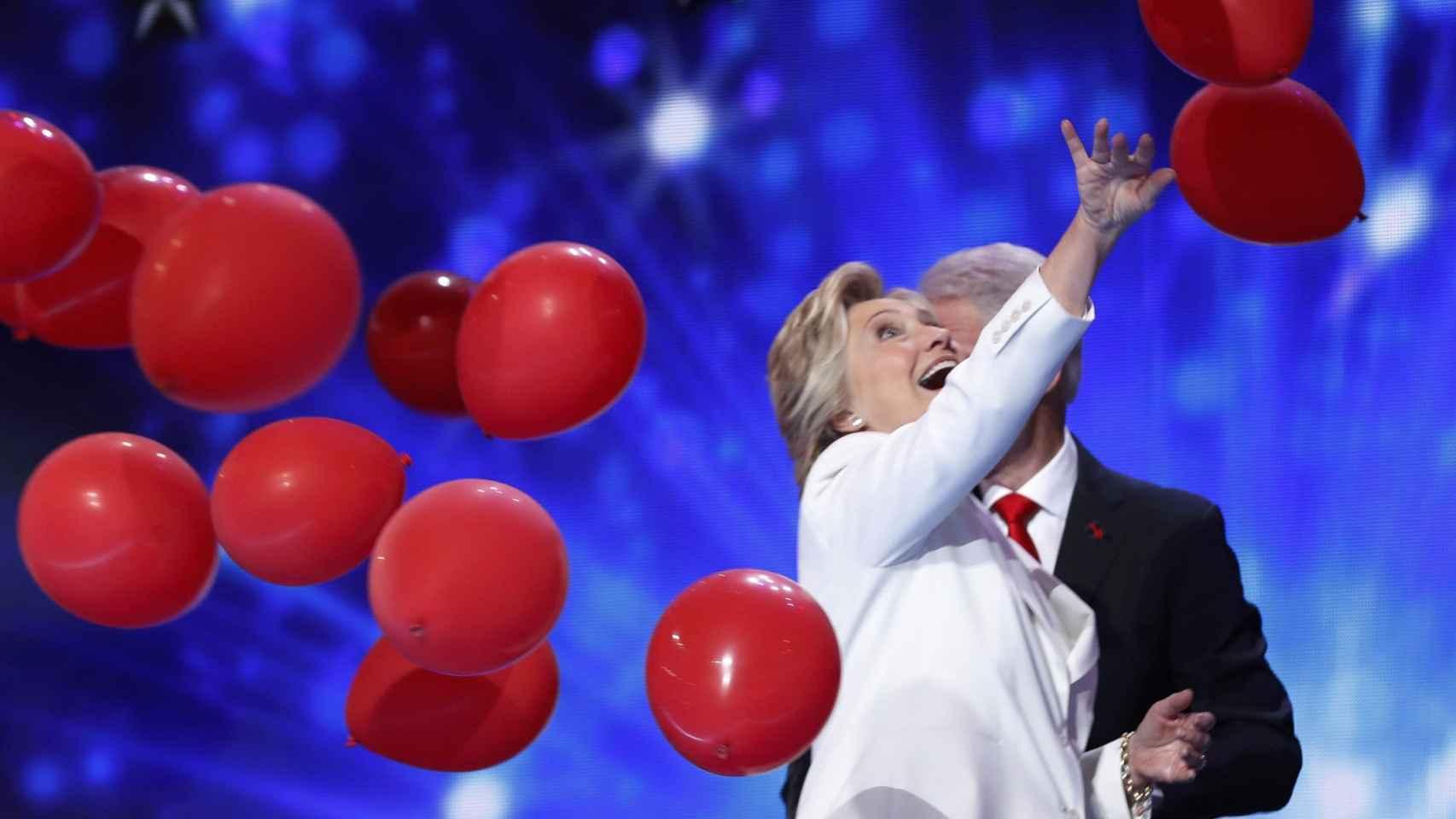 Hillary Clinton durante la Convención Nacional demócrata.