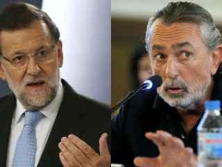 Mariano Rajoy a la izquierda y Francisco Correa a la derecha.