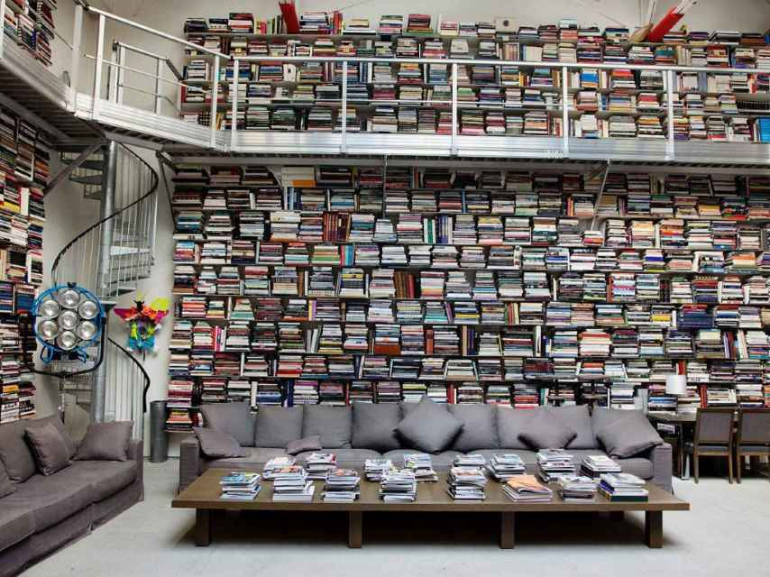 La biblioteca de Karl Lagerfeld en París.