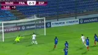 Momento del fallo en el Europeo sub-19 femenino.