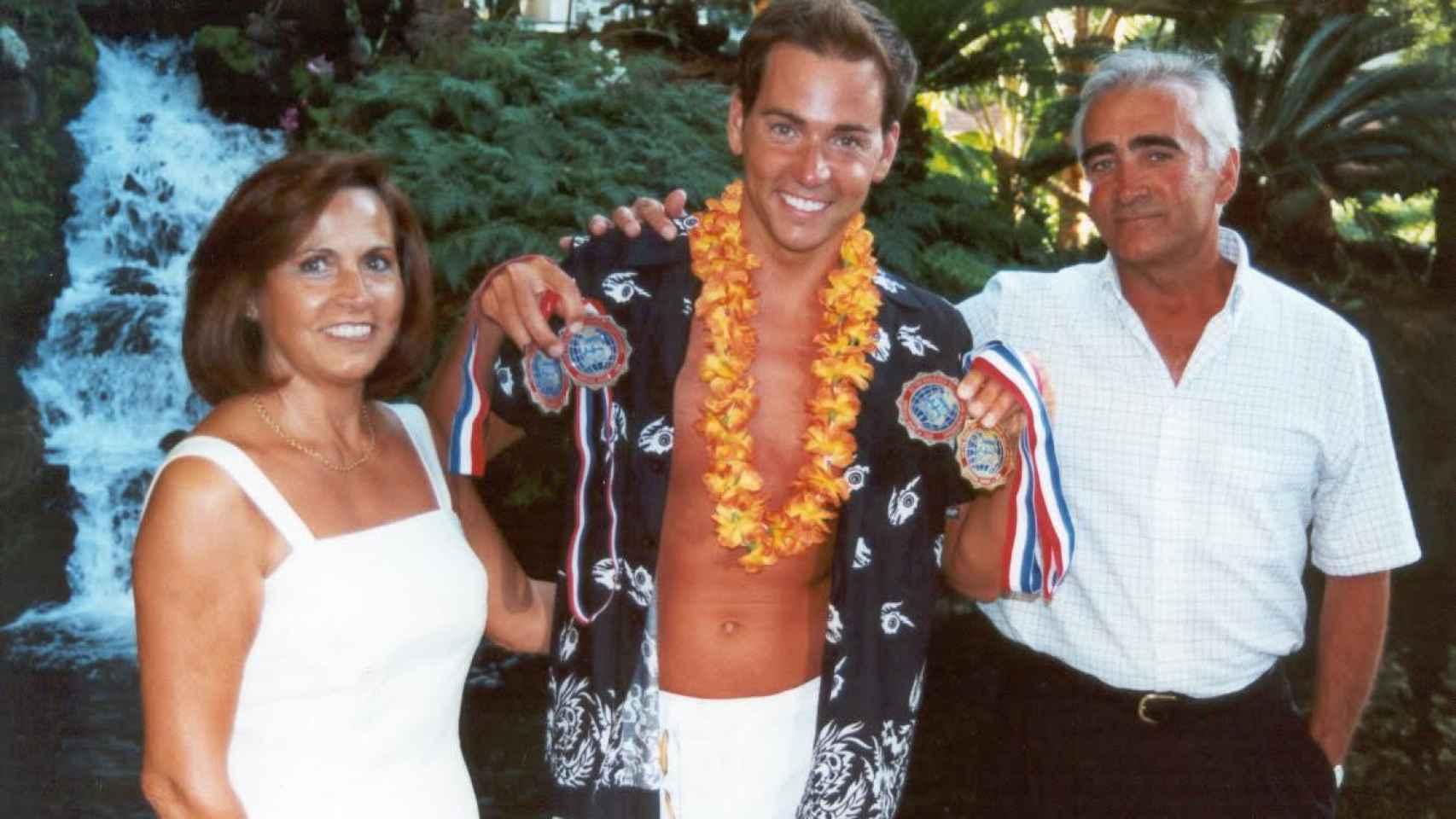 David Meca, durante el verano del año 2000.