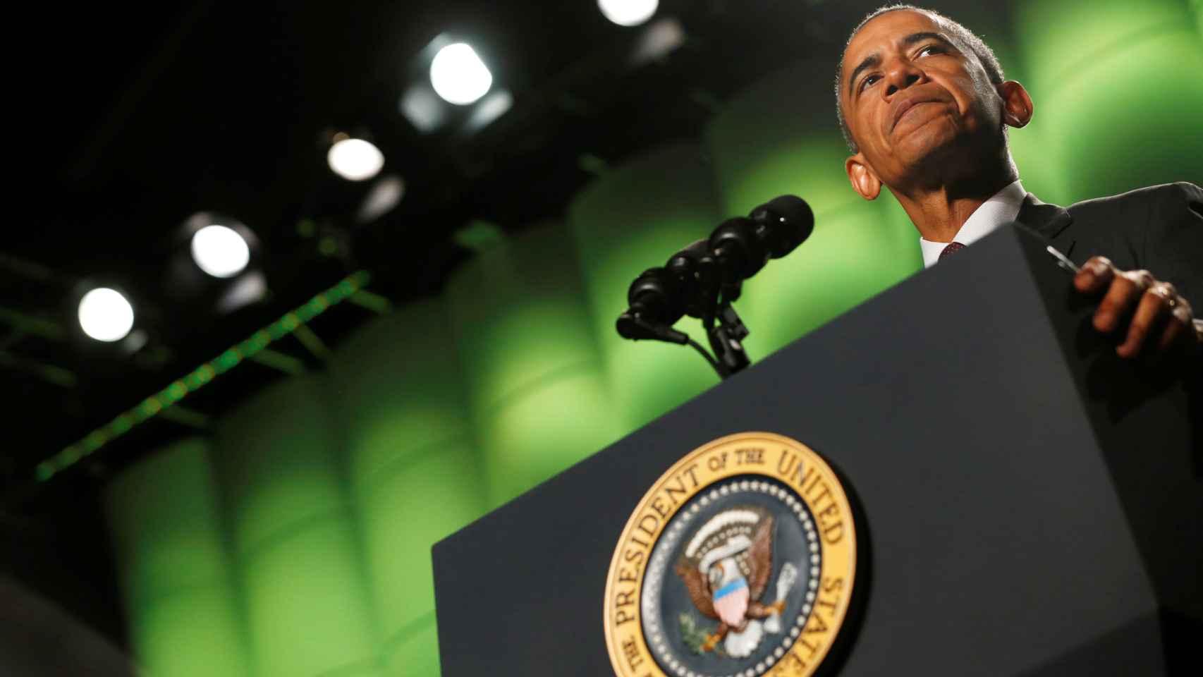 Obama, durante la convención anual de Americanos Veteranos Discapacitados en Atlanta.