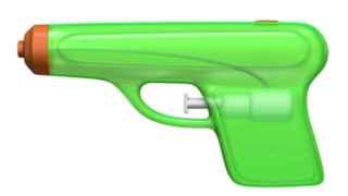Una simple e inofensiva pistola de agua.