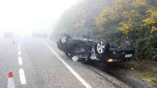 Accidente en la N-559, en Pontevedra.