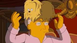 La caricatura que Los Simpsons hacen de Donald Trump en Fox TV.