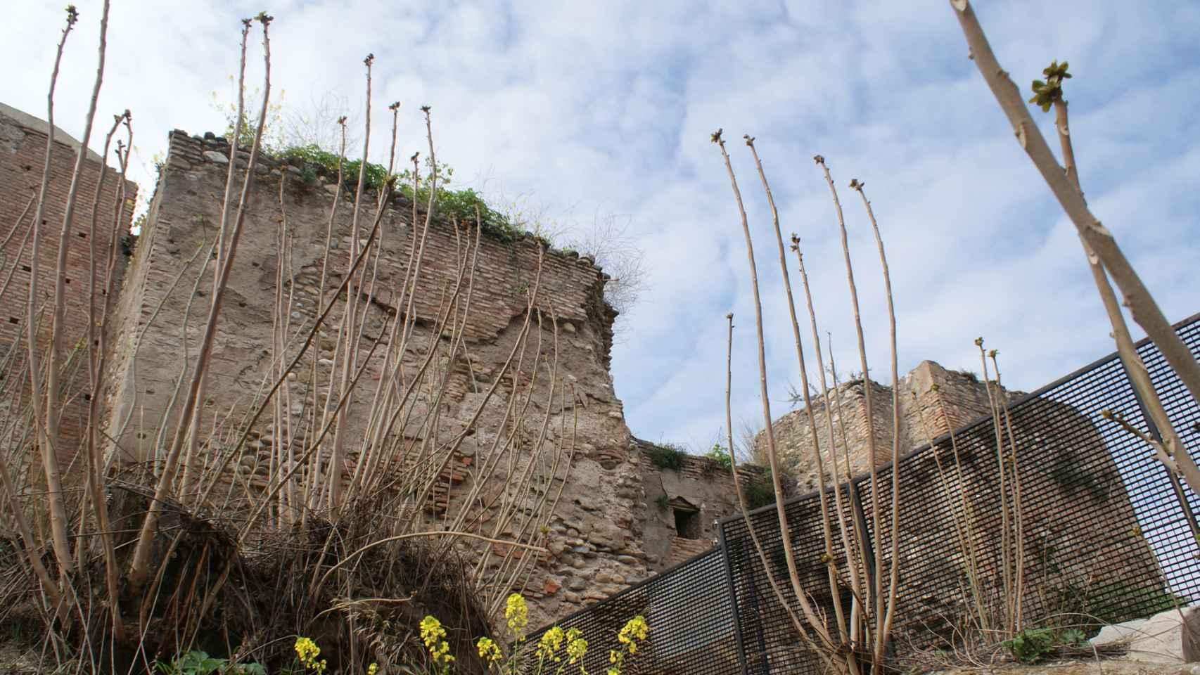 Fragmento de las murallas del barrio del Albaicín en Granada.