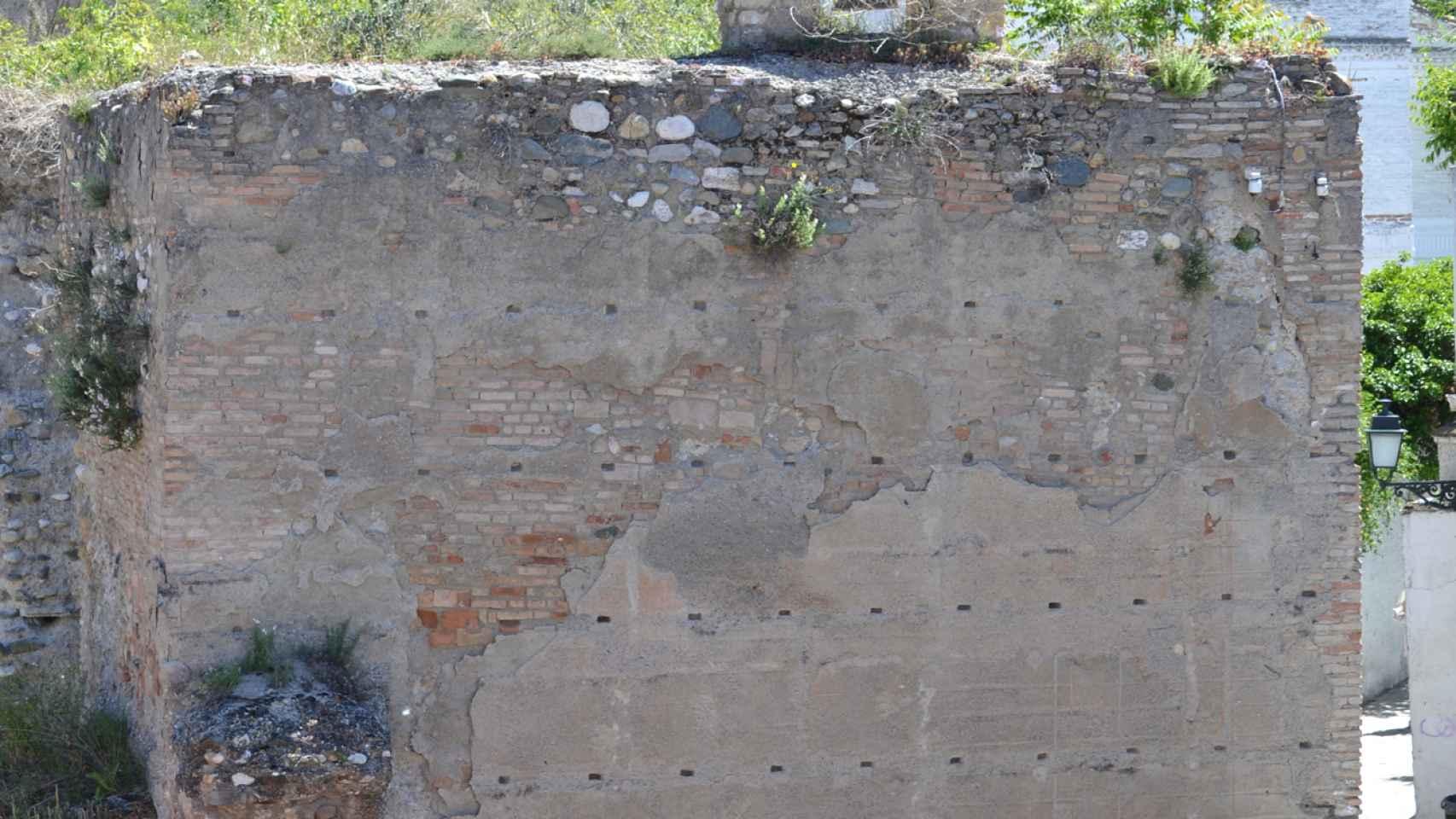 Parte de las murallas del Albaicín.