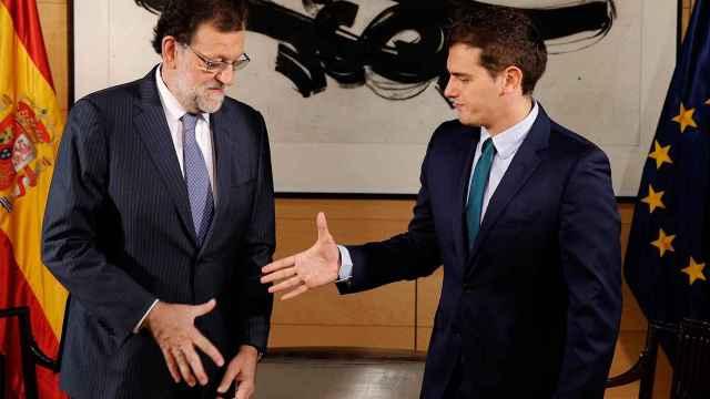Rajoy y Rivera-