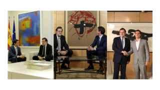 Historia de un acuerdo pictórico en tres cuadros abstractos.