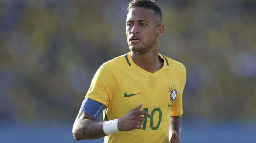 Neymar, en un partido con Brasil.