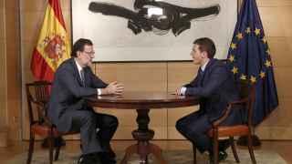 Rajoy y Rivera, en su encuentro del miércoles en el Congreso.