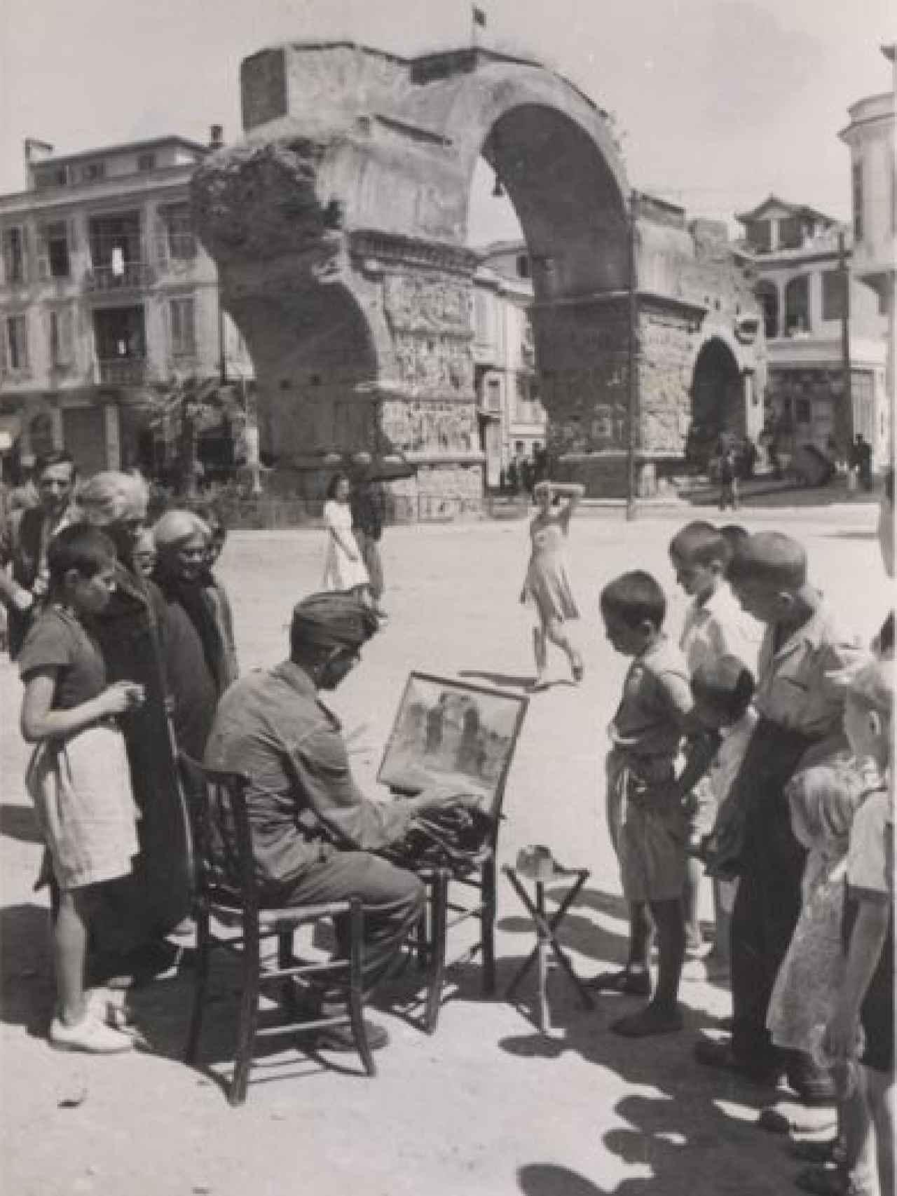 Un soldado nazi pintado.
