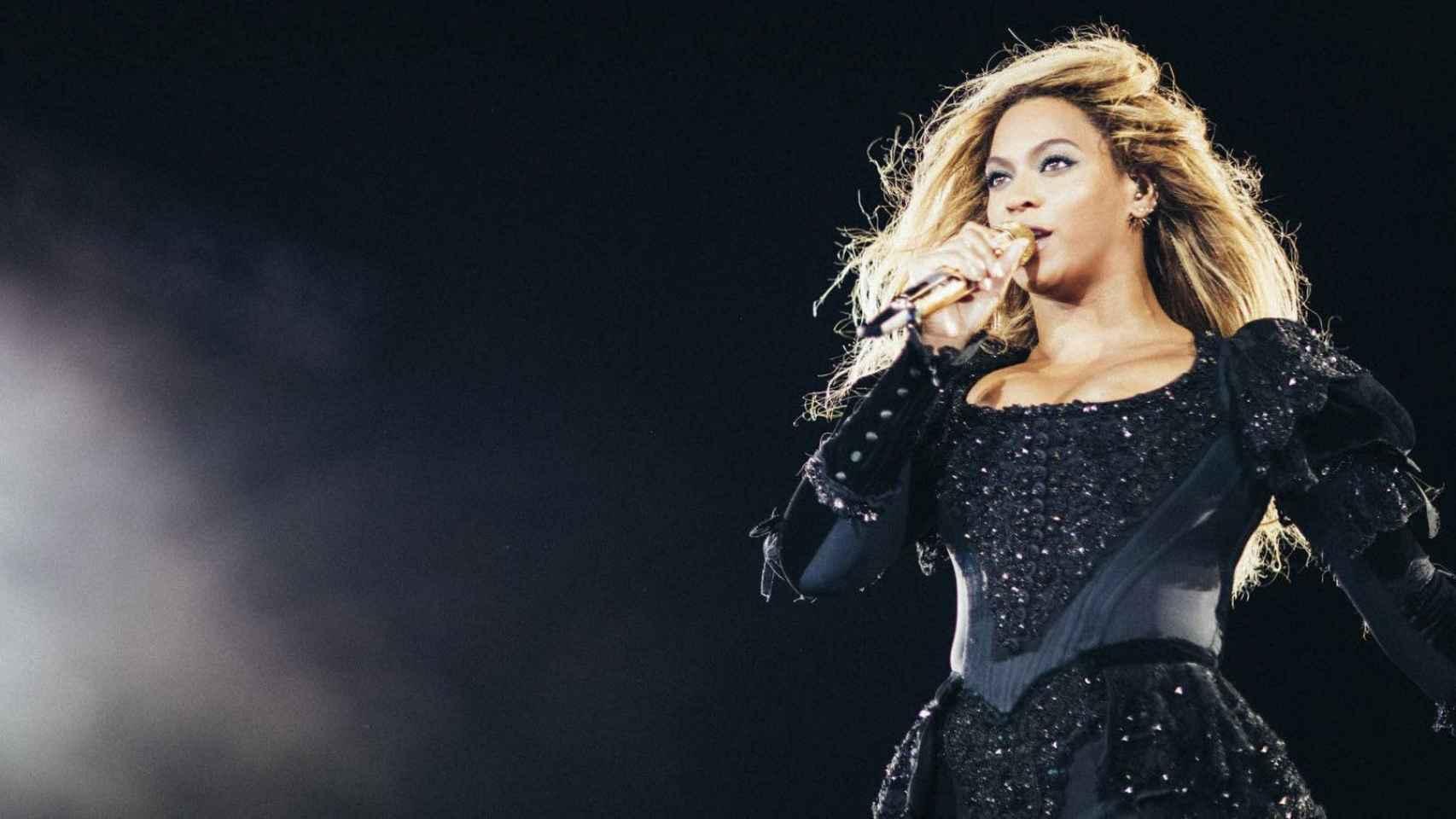 La cantante estadounidense, durante el concierto.