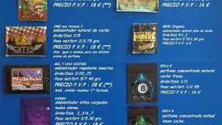 Catálogo de marihuana sintética recibido en la redacción de EL ESPAÑOL