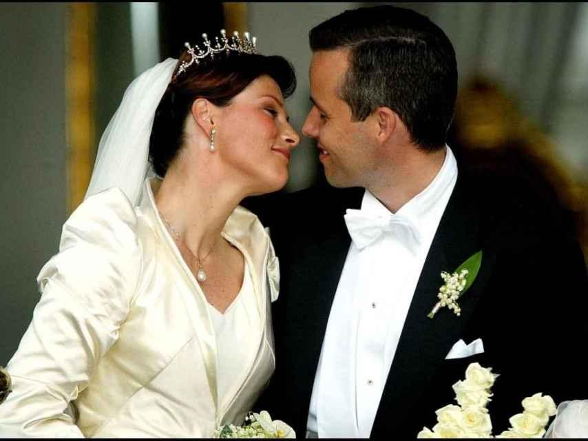 Marta Luisa de Noruega, el día de su boda.