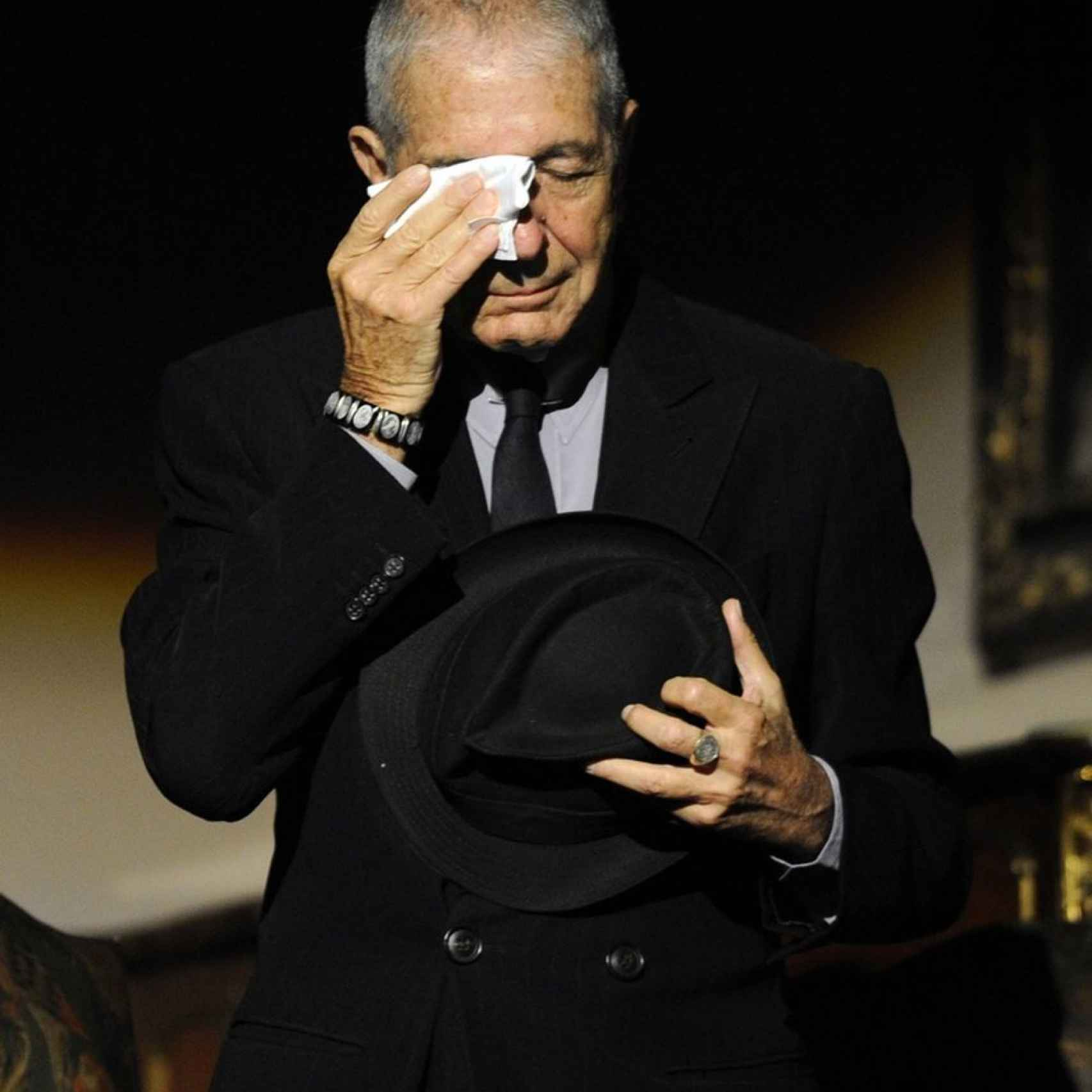 Leonard Cohen durante la entrega de su Premio Princesa de Asturias.