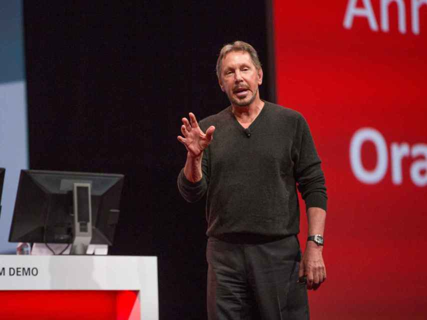 El CEO y fundador de Oracle, Larry Ellison.