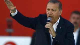 Erdogan, en un momento de su intervención.