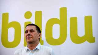 Otegi, en la presentación de la candidatura de Bildu.