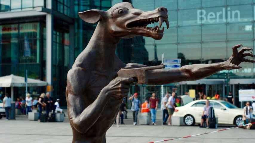 Lobo de la exposición.