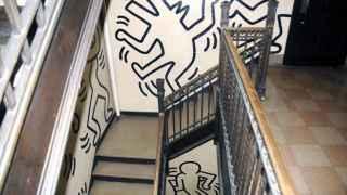 Parte del mural que Keith Haring pintó en los ochenta en Morningside Heights.