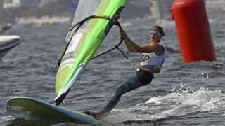 Marina Alabau, en una carrera de RS:X.