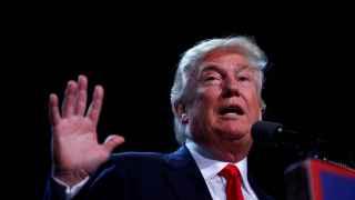 Donald Trump durante una comparecencia en Iowa.