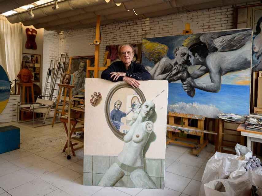 El artista polifacético Luis Eduardo Aute, en una entrevista reciente con EL ESPAÑOL.