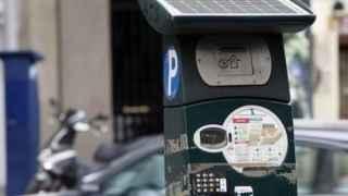 Un parquímetro en Madrid.